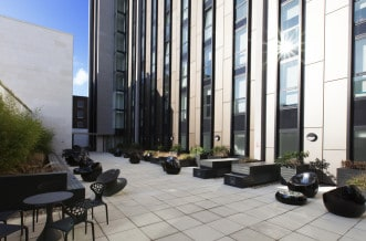 Hammersmith residence courtyard