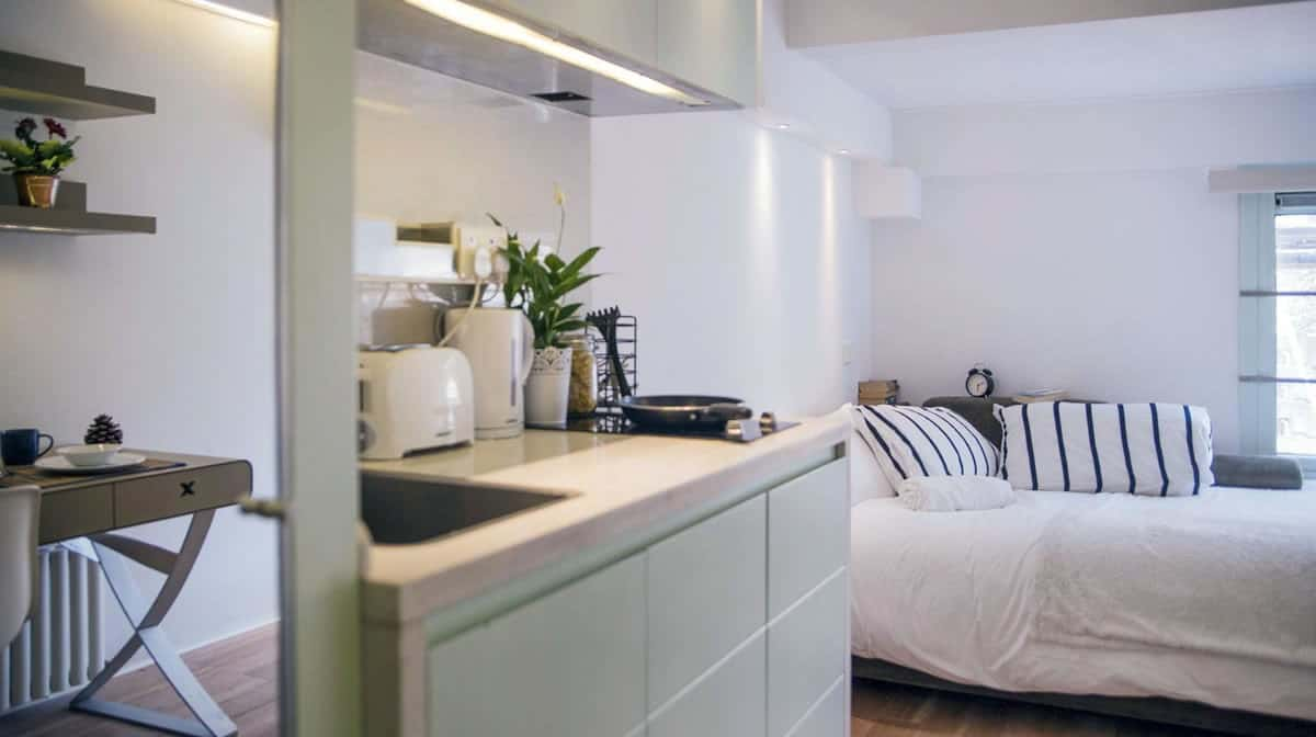 Camden Residence Accommodation - Studio Kitchen