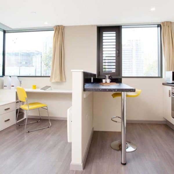 Wembley Residence Accommodation - Kitchen & Study