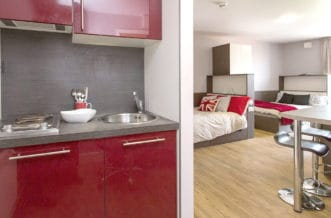 Camden Lock Residence Accommodation - Double Room Kitchen