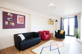 Glasgow Residence Accommodation - Living Room