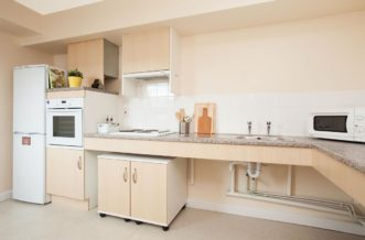 Stepney Green Pacific Court residence accommodation - Studio Kitchen