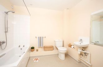 Stepney Green Pacific Court residence accommodation - Accessible Studio Bathroom