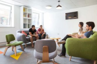 Shadwell Quantum Court residence accommodation - Common Room