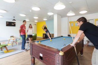 Shadwell Quantum Court residence accommodation - Games Room