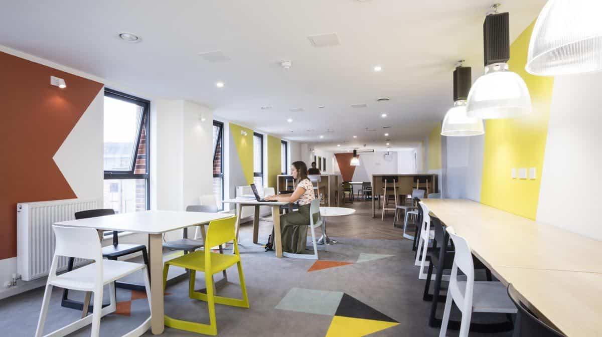 St Pancras Way residence accommodation - Study Room