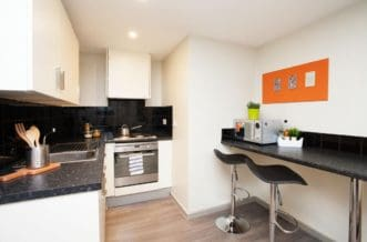 Liverpool Grand Central Residence Accommodation - Studio Kitchen