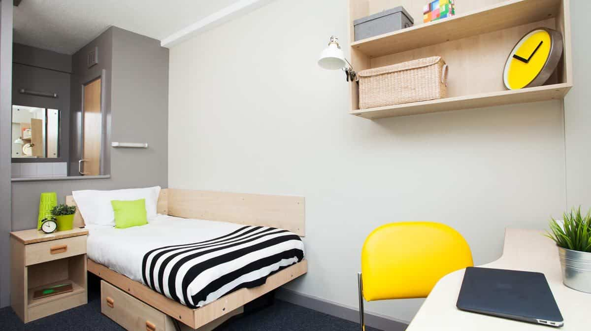 Manchester New Medlock House Residence Accommodation - En-Suite Bedroom