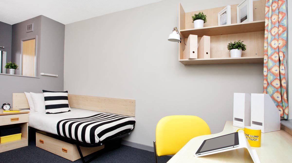 Manchester New Medlock House Residence Accommodation - Non En-Suite Bedroom
