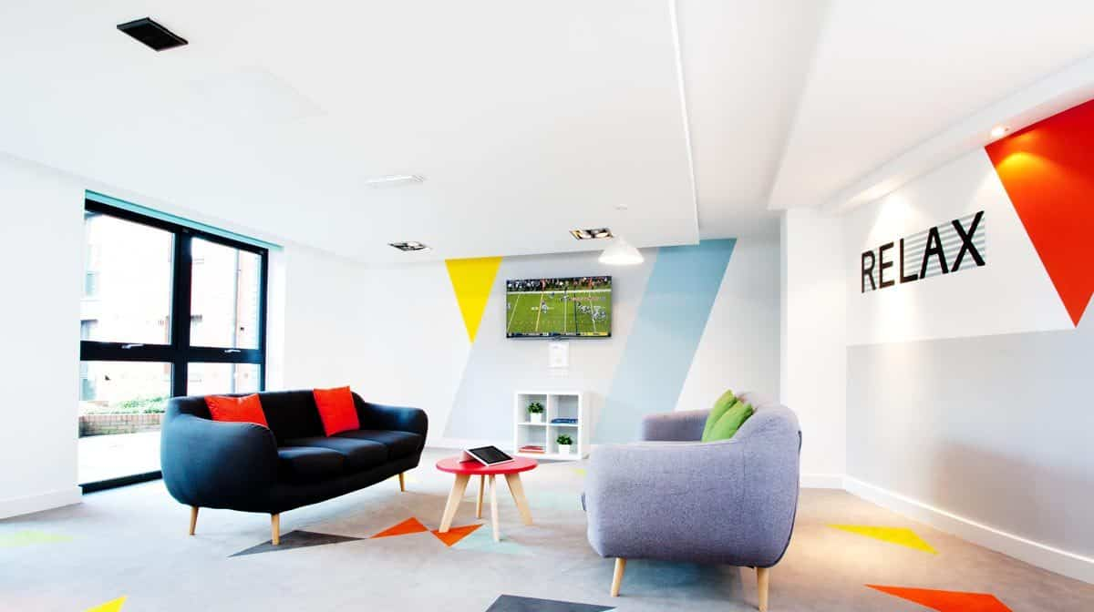 Sheffield Central Quay Residence Accommodation - Social Area