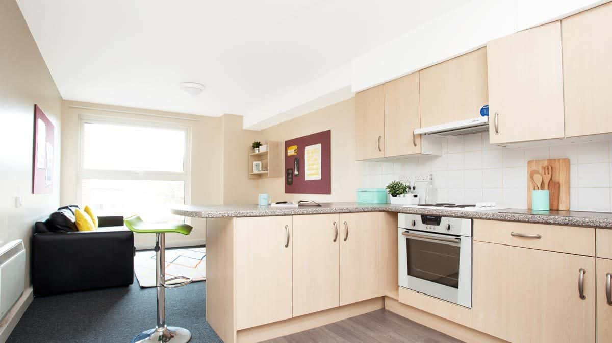 Sheffield Central Quay Residence Accommodation - Common Kitchen