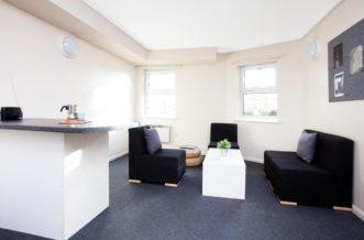 Sheffield Leadmill Point Residence Accommodation - Living Room