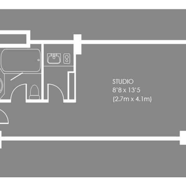 Regent's Park serviced apartment - Studio Apartment Floorplan