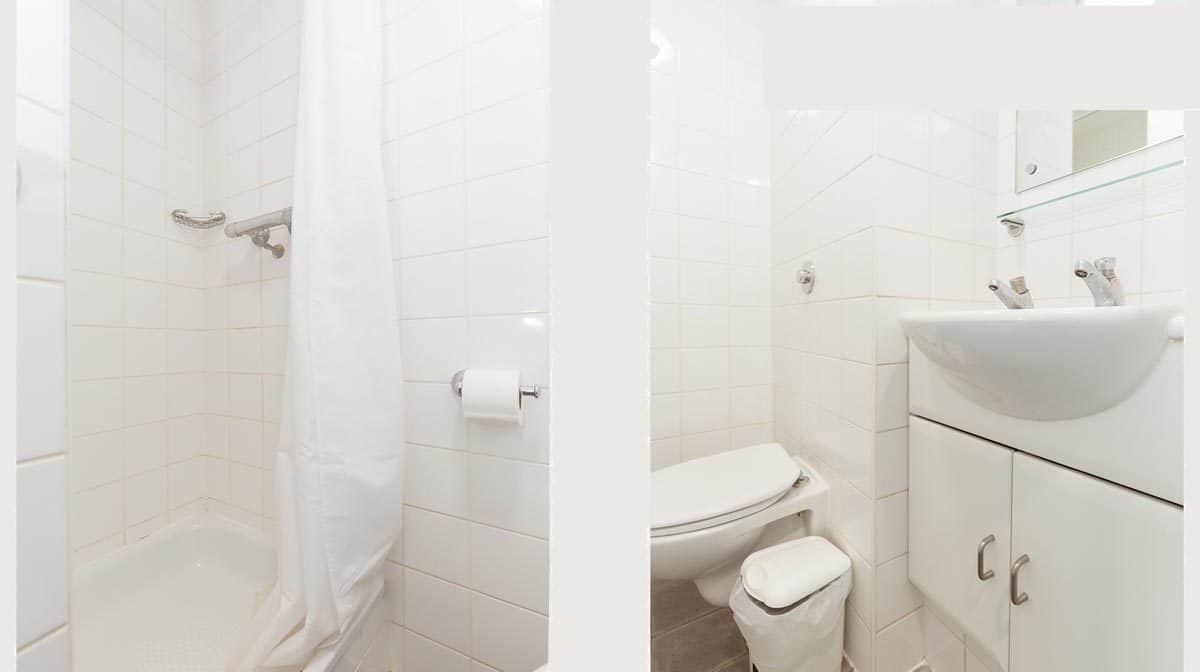 Waterloo Southwark residence accommodation - En Suite Bathroom