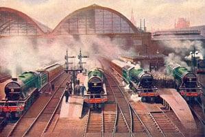1024px-Morning_rush_from_King's_Cross_(CJ_Allen,_Steel_Highway,_1928)